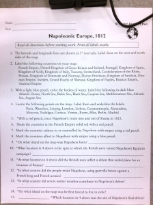 Napoleonic Europe Instructions