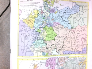 Unification of Germany Map